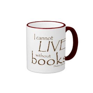 Without Books Ringer Mug