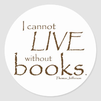 Without Books Sticker