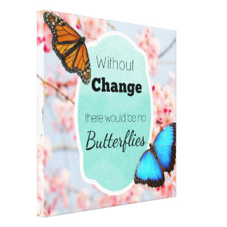 Without Change No Butterflies Cherry Blossoms Canvas Print