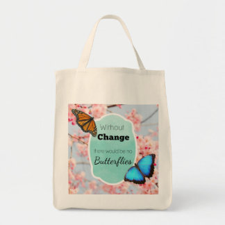 Without Change No Butterflies Cherry Blossoms Tote Bag