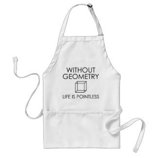 Without Geometry Life Is Pointless Standard Apron