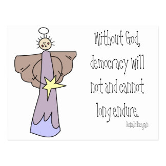 Without God, democracy will not and cannot long en Postcard
