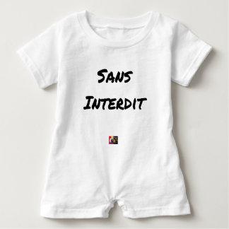 WITHOUT INTERDICT - Word games - François City Baby Bodysuit