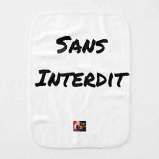 WITHOUT INTERDICT - Word games - François City Burp Cloth