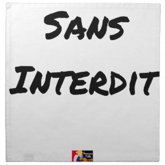 WITHOUT INTERDICT - Word games - François City Napkin