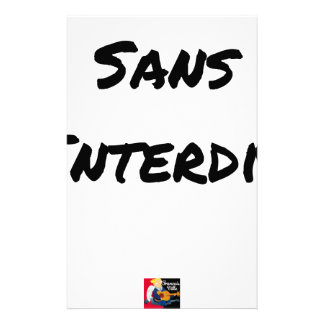 WITHOUT INTERDICT - Word games - François City Stationery