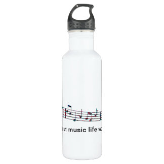 Without music, life would Bb 710 Ml Water Bottle