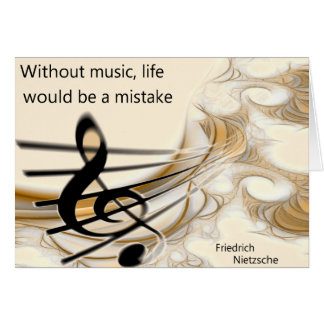 Without Music Nietzsche Quote Greeting Card