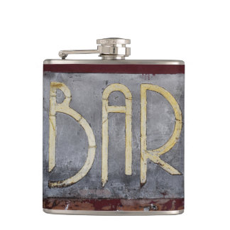 WITHOUT | nostalgic | flat man Hip Flask