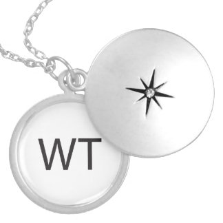 Without Thinking -or- What The -or- Who The.ai Round Locket Necklace