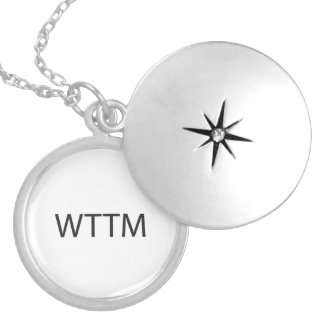 Without Thinking Too Much.ai Round Locket Necklace
