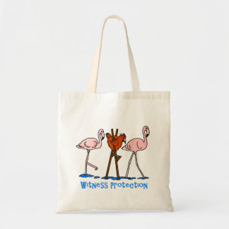 Witness Protection Chicken And Flamingos Tote Bag