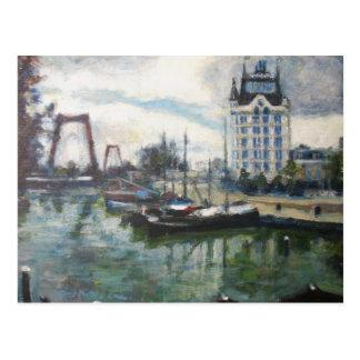 Witte Huis White House Rotterdam Fine-Art Painting Postcard