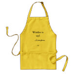 Wittles is up!, ...if you please, ...sir. apron