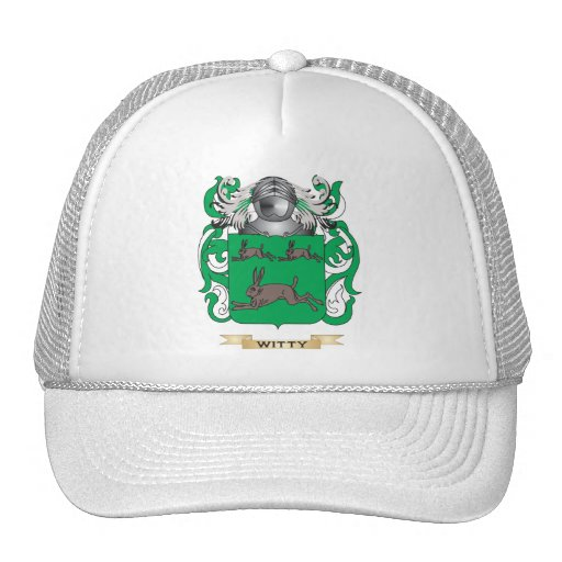 Witty Family Crest (Coat of Arms) Trucker Hat
