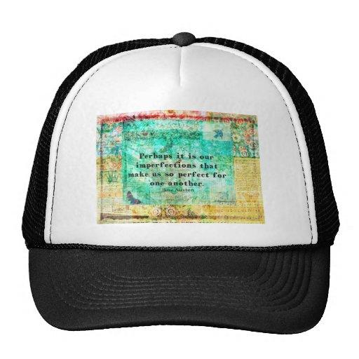 Witty Jane Austen quote Hats