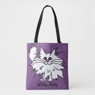 Witty Kitty All-Over-Print Tote Bag