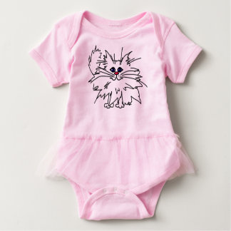 Witty Kitty Baby Tutu Bodysuit