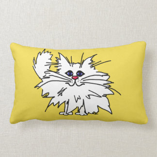 Witty Kitty Polyester Throw Pillow
