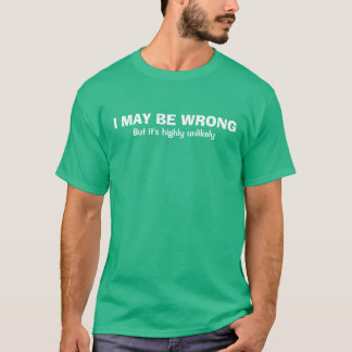 Witty Men's 'I May Be Wrong' T-Shirt
