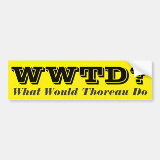 Witty Philosophical Enlightening Humorous Message Bumper Sticker