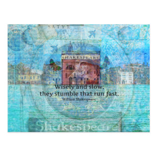 Witty Shakespeare Quote from Romeo and Juliet Postcard