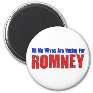 Wives For Romney 6 Cm Round Magnet