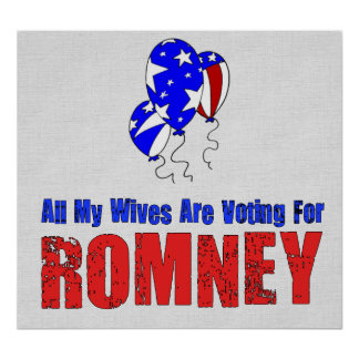 Wives For Romney Posters