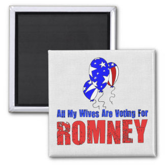 Wives For Romney Square Magnet
