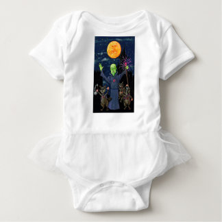 Wizard and Evil Raccoons Baby Bodysuit