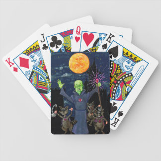 Wizard and Evil Raccoons Bicycle Playing Cards