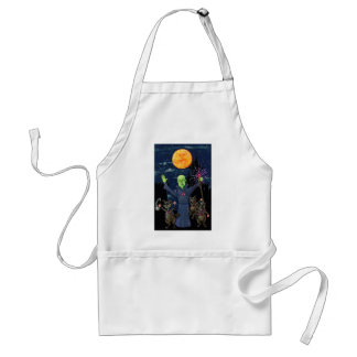 Wizard and Evil Raccoons Standard Apron