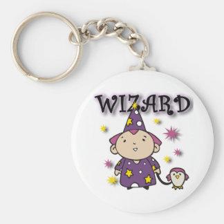 Wizard Basic Round Button Key Ring
