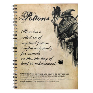 Wizard Drink Recipe Potion Book Spiral Note Books