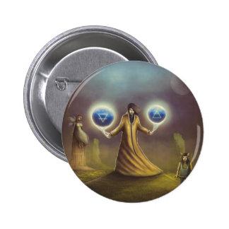 wizard fantasy magic 6 cm round badge
