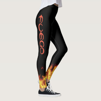 Wizard Fire FUEGO Leggings Running Jogging Spin
