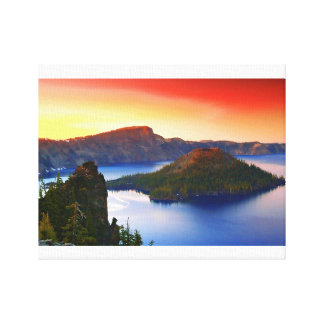 Wizard Island and Crater Lake Canvas Print