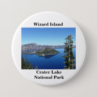Wizard Island at Crater Lake 7.5 Cm Round Badge