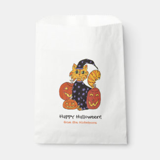 Wizard Kitty Cat Halloween Trick or Treat Favour Bags