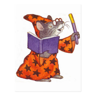 Wizard Mouse Postcard
