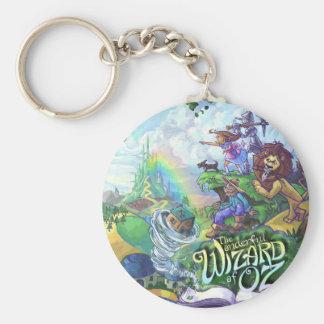 Wizard of Oz Basic Round Button Key Ring