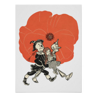 Wizard of Oz Dorothy and Poppies Poster