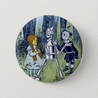 Wizard of Oz Dorothy Tin Woodsman Scarecrow 6 Cm Round Badge