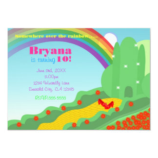 Wizard of OZ Emerald City Slippers Birthday Party Card