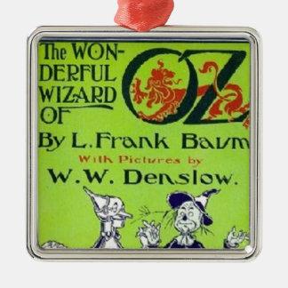 Wizard of Oz Silver-Colored Square Decoration