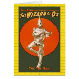 Wizard Of Oz Tin Man - Vintage Musical Theatre Card