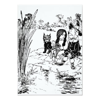 Wizard of Oz Toto, Dorothy and Scarecrow 13 Cm X 18 Cm Invitation Card