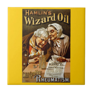 Wizard Oil Vintage Advertisement Small Square Tile