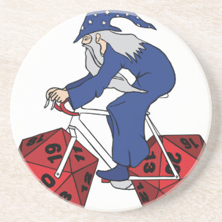 Wizard Riding Bike With 20 Sided Dice Wheels Coaster