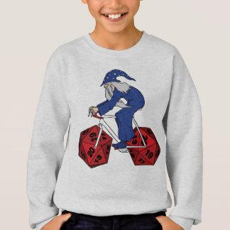 Wizard Riding Bike With 20 Sided Dice Wheels Sweatshirt